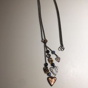 Jewelry - Long Chain Heart Charm Dangle Necklace